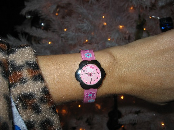 Marvin also got me a Hello Kitty watch. Because I'm 44.