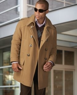 Collection Mens Brown Pea Coat Pictures - Reikian